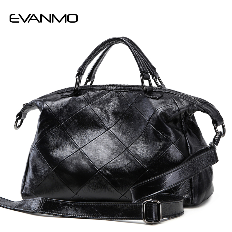 New Soft 100% Genuine Leather Women Handbag Luxury Designer Scrub Cow Leather Women Tote Bag Brand Crossbody Bag E