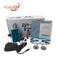 A0009 Dental Equipment Surgical dental glasses 3.5X 420mm +LED Head Light Lamp dental lab BLUE AA+ Medical dental Loupes