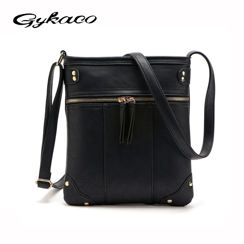 2017 Fashion Designer Women Messenger Bags PU Leather Small Crossbody Shoulder Bags Women Black Bolsos Casual Bag Dollar Price imido hot sale designer genuine leather bags women shoulder bag cowhide crossbody small bags purple yellow dollar price mg020