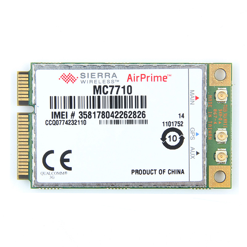 Unclocked Sierra Wireless Airprime MC7710 Mini PCI-E LTE/HSPA + 3G 4G Module Wlan WWAN Card 800/900/2100MHz Support Gobi API new unlocked sierra mc8780 wireless 3g wwan 7 2mbps hsupa hsdpa umts gprs gps edge module mini pci e card for dell acer asus