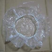 20pcs Spa Shower Bathing Elastic Transparent Cap Hair Salon Disposable Clear