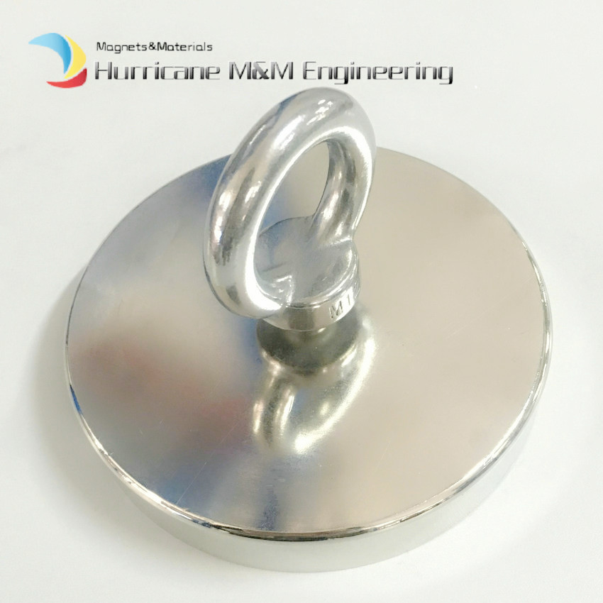 1 pc NdFeB Lifting Magnet Diameter 136x25 mm with M8 Screw Countersunk Hole N52 Neodymium Rare Earth Permanent Magnet Lathed Cup 1 pack mounting magnet diameter 12 mm clamping pot magnet with steel hook neodymium lifting magnet strong magnet lathed cup