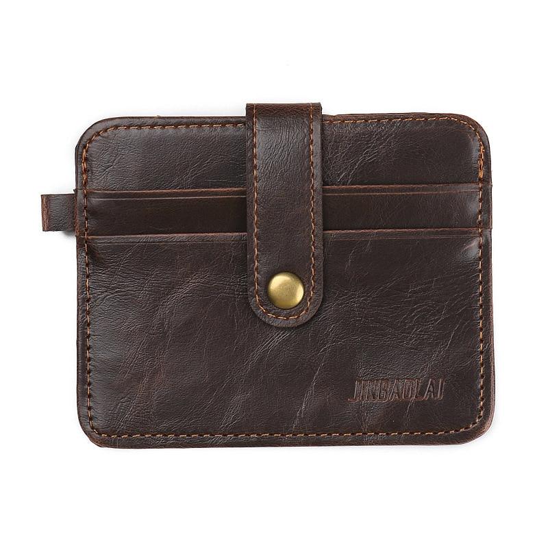 JINBAOLAI चमड़ा पुरुष बटुआ लक्जरी बैग ब्रांड पुरुष पर्स विंटेज डिजाइनर आईडी क्रेडिट कार्ड धारक - BID070 PR30