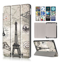 """For New iPad 2017 PU Leather Case Cover 9.7"""" Tablet Cases Colorful Protective Stand Fundas For Apple iPad 9.7 2017 Smart Cover"""