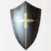 European Wall Pendant Metal Shield Medieval Wrought Iron Retro Bar Wall Jewelry Restaurant Armor