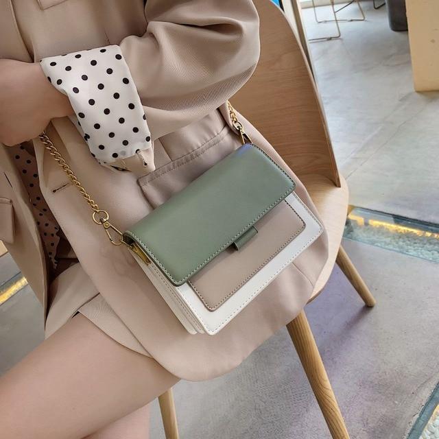 Mini Leather Crossbody Bags For Women 2020 Green Chain Shoulder Messenger Bag Lady Travel Purses and Handbags  Cross Body Bag 1