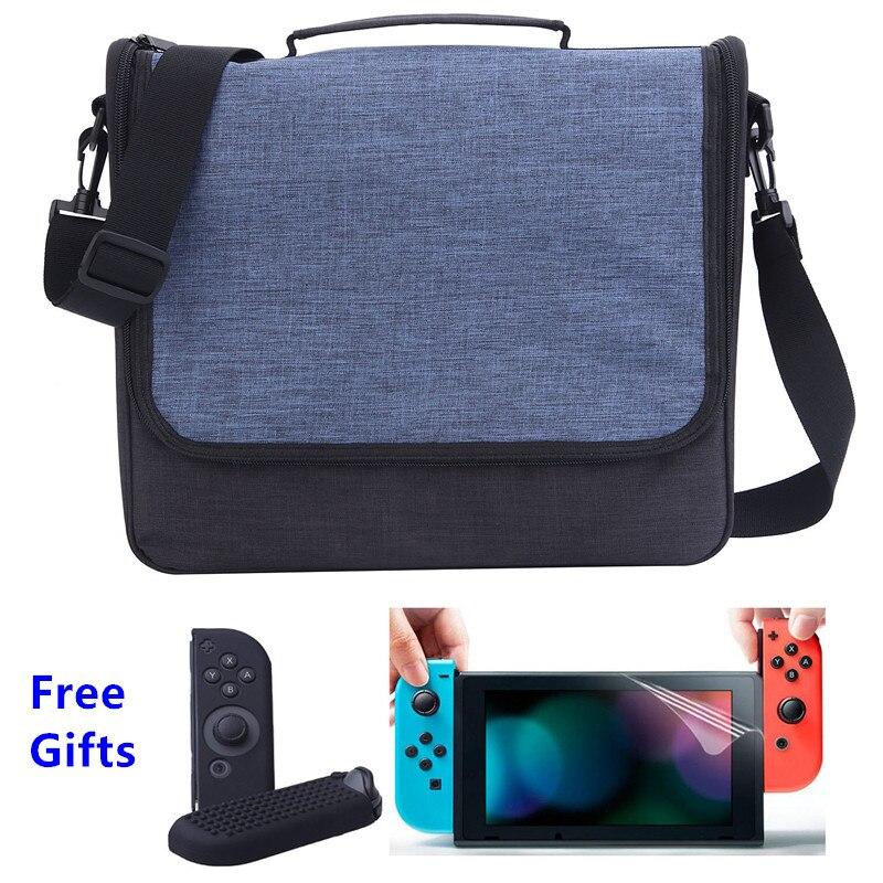 Storage Travel Carrying Messenger Bag Protective Cover Hard Shoulder Box Case For Nintend Switch Nitendo Nintendo