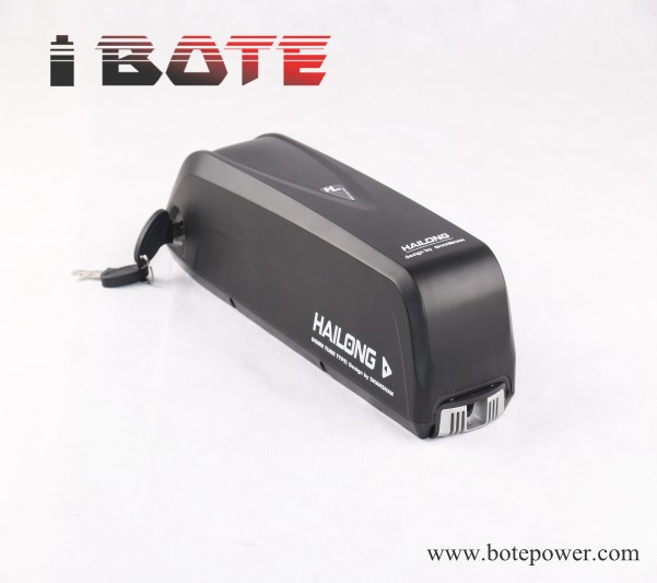 down tube bike battery 48V 12Ah lithium battery pack HaiLong battery with 2A charger for electric bike