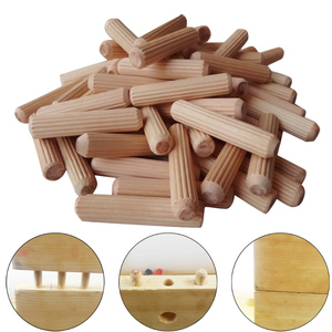 100Pcs Woodworking Doweling Jig Kit Round Grooved Fluted Wooden Plug Wood Dowel Pins Rod Drilling Guide Locator Tool(China)