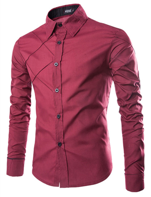 High Quality Social Shirt  Casual Shirt Slim Men's Dress