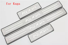 цена на Car accessories Stainless Steel Side Door Scuff Plate Door Sill Trim Fit For Ford Kuga Escape 2012 to 2018 Car styling