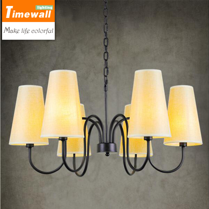 American country retro Scandinavian Iron Chandelier simple modern bedroom dining room lighting lamp art garden купить