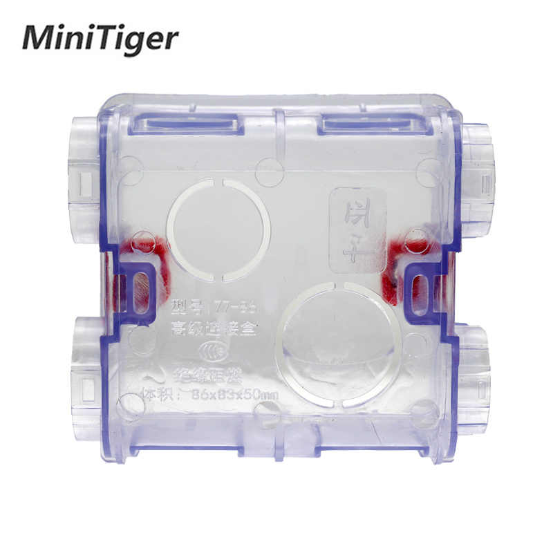 Minitiger Регулируемая прозрачная Монтажная коробка внутренняя кассета 86 мм * 83 мм * 50 мм для 86 Тип wifi сенсорный выключатель и USB разъем
