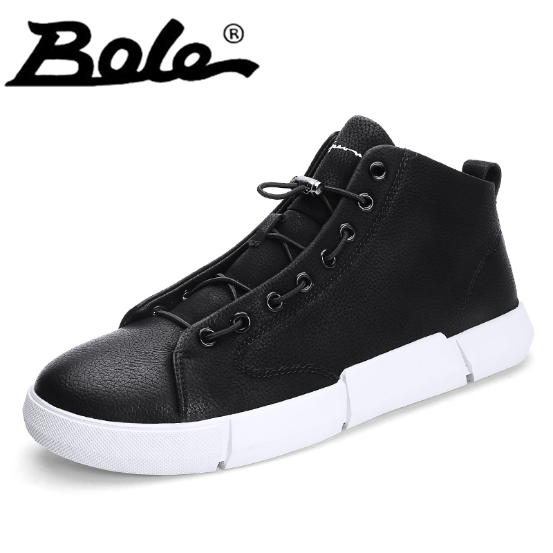 Men Microfiber Leather Casual Shoes High Top Round Toe Lace Up Shoes for Men Shoes Spring Autumn Fitness Footwear Hombre Zapatos men non leather casual shoes spring autumn summer mens footwear men lace up camouflage shoe zapatillas hombre chaussures homme