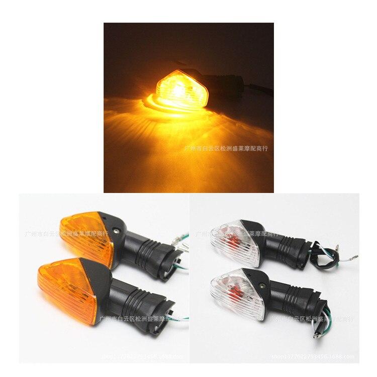 pit bike blinker motocross lamp amber moto indicator motorcycle flasher for Kawasaki <font><b>LED</b></font> ZX6R ZX9R motorbike turn signal light