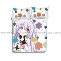 Anime Cartoon Plastic Memories Quilt Cover Soft Printed Bedding Set Duvet Cover Set Isla