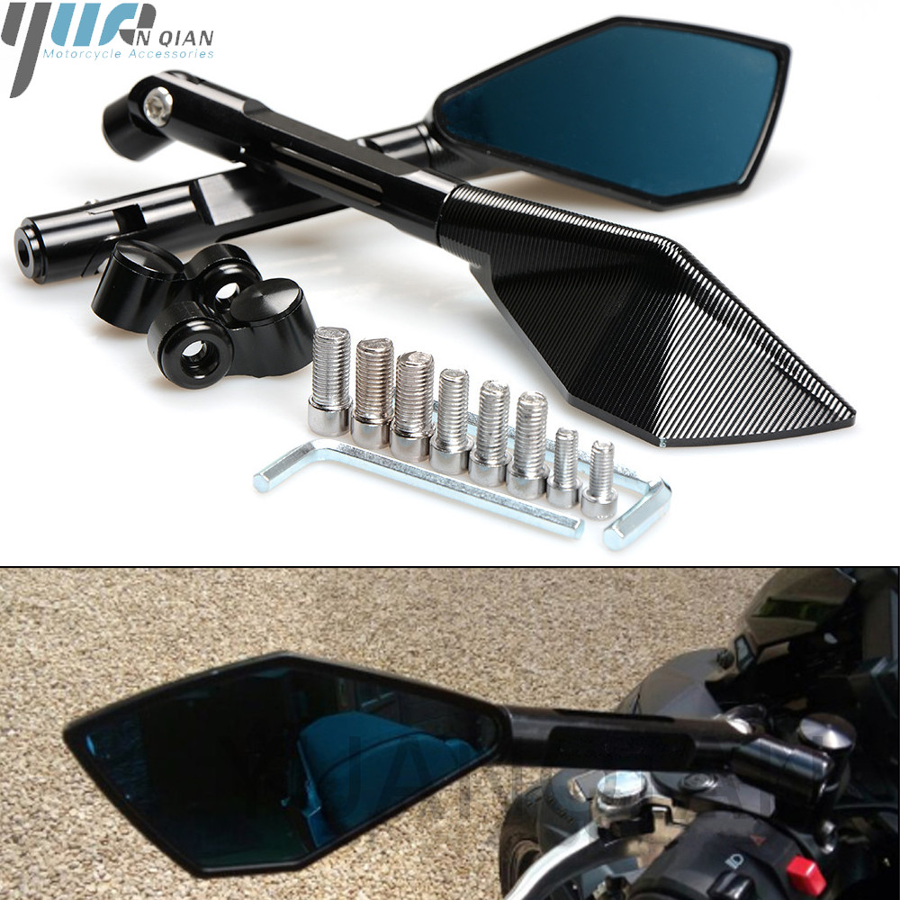 Espejos de motocicleta de lado espejos retrovisores para Yamaha FZ8 FZ1 FZ6 FAZER S2 XJ6 desviación TDM 900 MT07 R6 VMAX 1200 XJR 1300 XMAX