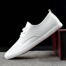 2020 Fashion Brand Men Casual Shoes Genuine Leather Men