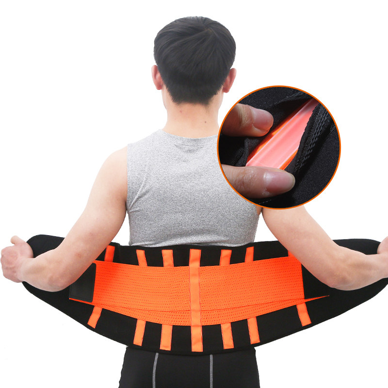 Men And Women Waist Trimmer Belt Lumbar Back Support Gym Fitness Weightlifting Belt Adjustable Abdominal Elastic Waist Trainer
