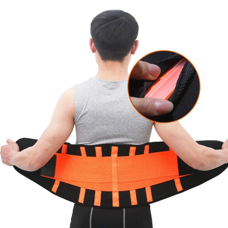 Männer Und Frauen Taille Trimmer Gürtel Lenden Zurück Unterstützung Gym Fitness Gewichtheben Gürtel Einstellbare Abdominal Elastische Taille Trainer