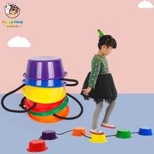 Happymaty jouet en pierre déquilibrage de maternelle, une étape, entraînement en intérieur et en extérieur, jouet de sport, cadeau pour enfants