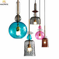 modern colorful candy Glass LED pendant lamps dining room Living room bar deco lighting fixtures bedroom LED hanging lighting