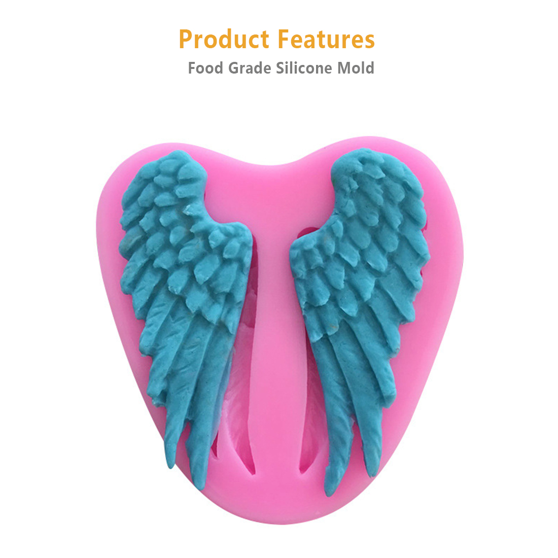 Cake Decorating 1PC Angel Wings Shape Bread Mould Silicone Soap Mold ...