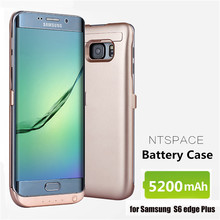 NTSPACE For Samsung Galaxy S6 edge Plus G9280 Power Bank Charger Case 5200mAh External Battery Cases Powerbank Cover