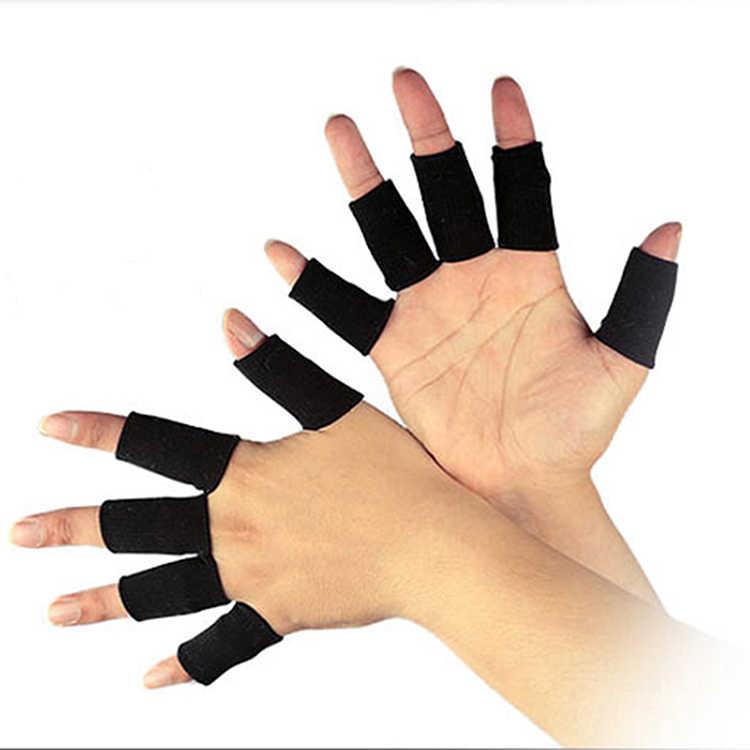 10 piezas de deportes de equipo de protección guardia apoyo secreto baloncesto voleibol fútbol dedo puesto Protector de manga guantes de protección