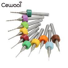 Cewaal 10PCS/Set 0.1-1.0mm Solid Carbide PCB Drill Bit Nozzle for RepRap 3D Printer Accessories