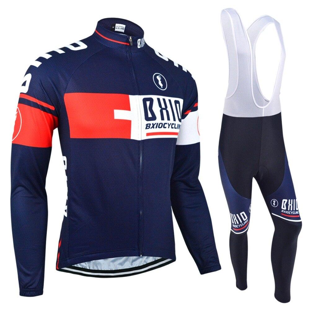 BXIO Hiver Thermique En Laine Polaire Vélo Jersey Chaud À Manches Longues Pro Bike Team Vêtements Multi Couleurs Vélo Clothing Ropa Ciclismo 025