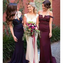 Custom Made Sexy Burgundy Sheath Bridesmaid Dresses V Neck Spaghetti Straps Bridesmaid Gowns Women Luxury Dress For Formal Party