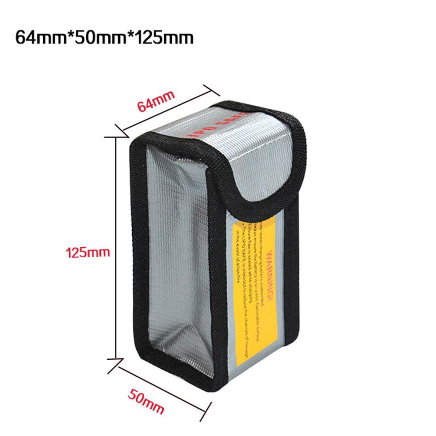 LiPo Li-Po Battery Fireproof Safety Guard Safe Bag 64*50*125MM Levert Dropship S9162