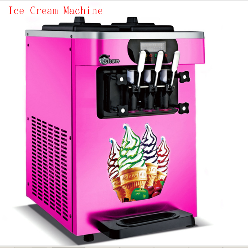 Commercial desktop soft ice cream machine sweet cone ice cream machine 18L / h ice cream maker 1600W 1PC XQ-18X men colorful striped drawstring shorts