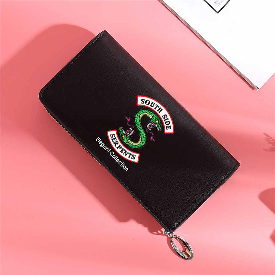 Riverdale South Side Serpents New 2019 Fashion Printed Women Long Clutch Wallet Large Capacity Tassel  Female For Coins Wallet