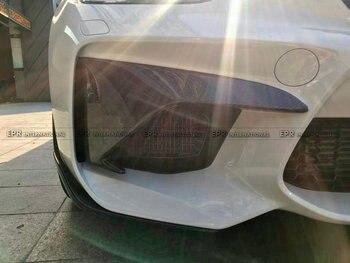 Karbon Fiber Ön Tampon Ekleyin (Gerçek M2) araba-styling Vücut Kiti Araba Aksesuarları Için Fit F87 M2 St-stil