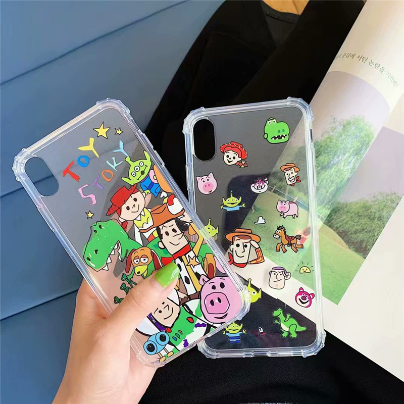 JAMULAR Cartoon <font><b>Toy</b></font> <font><b>Story</b></font> Transparent Phone Case For <font><b>iPhone</b></font> X XS MAX XR <font><b>6</b></font> 6s 7 8 Plus Buzz lightyear Soft TPU Back Cover <font><b>Fundas</b></font> image