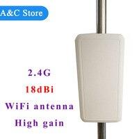 High Gain 18dBi 2 4ghz Wifi Antenna Directional Single Polarization Panel Antenna For Wifi Wireless Network