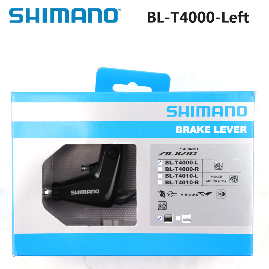 Silver F+R Shimano ALIVIO BL-T4010 BR-T4010 Brake Levers /& V-Brake Set