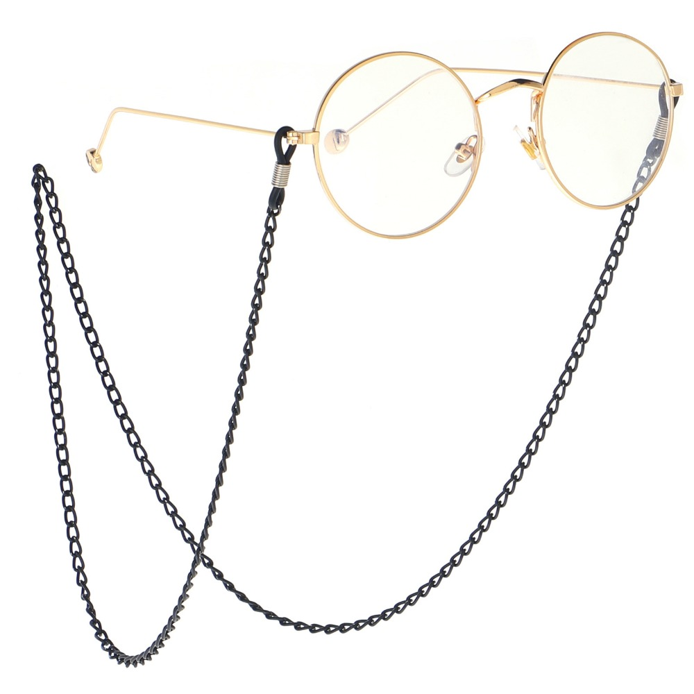 2018 Vintage Eyeglass Holder Black Link Sunglasses Chain Retro Eyeglass Neck Cord Retainer Strap Eyewear Metal Holder Reading