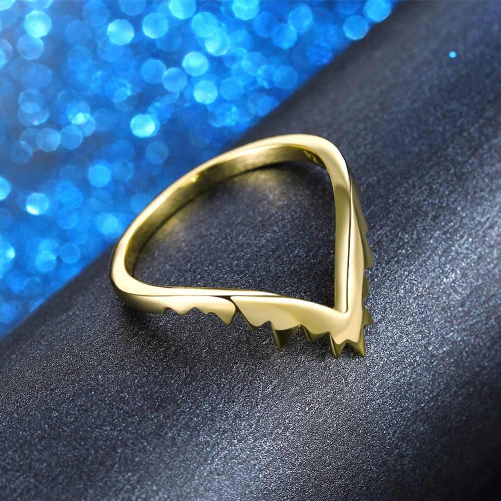 ORSA GIOIELLI delle Donne Anello Originale Vampire Fangs Modello di Alta Polacco Oro-colore Argento Colore Femminile Anello Del Partito Del Regalo gioielli OR163
