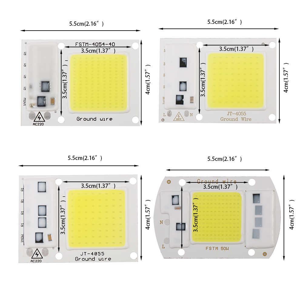 Inteligentna matryca led wysokiej mocy IC do projektorów 15W 20W 30W 50W AC 220V DIY światło halogenowe reflektor cob led zewnętrzna lampa układowa