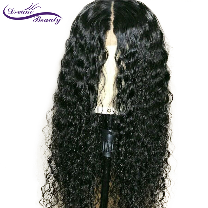 13x6 Deep Part Lace Front Human Hair Curly Wigs 130 Density Brazilian Remy Hair Lace Wig