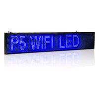 26in 66 cm P5 SMD 16*128 pixel WIFI sem fio LED programável Sinal Rolling informações Publicidade Indoor led Azul placa de exposição
