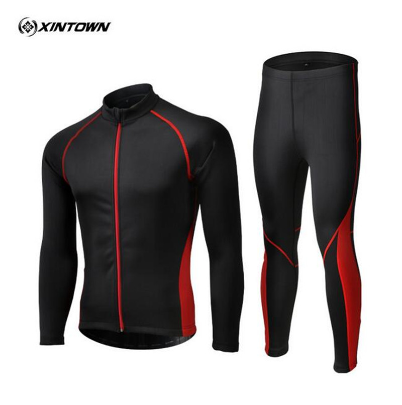 XINTOWN Cycling Jacket Jerseys Sets Suits Long Sleeve Autumn Winter Breathable Waterproof Windproof Warm Men Women Cycling Cloth ckahsbi winter long sleeve men uv protect cycling jerseys suit mountain bike quick dry breathable riding pants new clothing sets