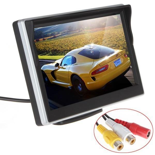 Бесплатная Доставка 5 дюймов TFT ЖК-дисплей экран автомобиля Мониторы HD800 * 480 парковки автомобиля задним ходом Мониторы с 2 видеовхода
