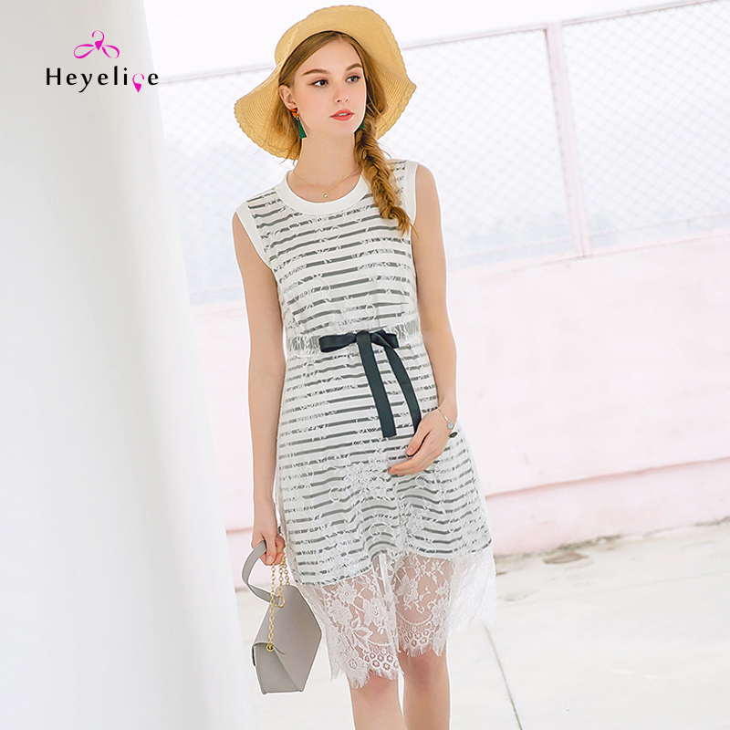 Fashion Sleeveless Maternity Dresses Pregnancy Clothings Lace Patchwork Knee Length Maternity Dress New! Pregnancy Striped DressFashion Sleeveless Maternity Dresses Pregnancy Clothings Lace Patchwork Knee Length Maternity Dress New! Pregnancy Striped Dress