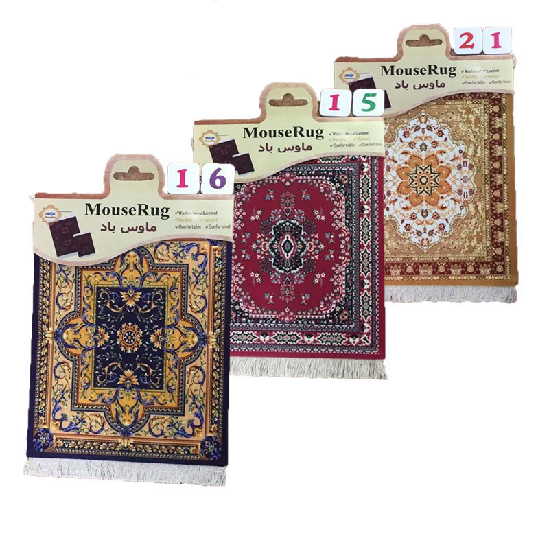 Nworld Persian Mini Woven Rug Mat Mousepad Carpet Pattern Cup Mouse Pad With Fring Retro Style Home Office Table Decor Craft