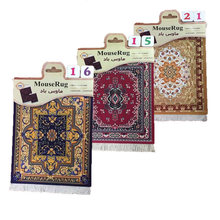 Nworld Persian Mini Woven Rug Mat Mousepad Carpet Pattern Cup Mouse Pad with Fring Retro Style Home Office Table Decor Craft(China)