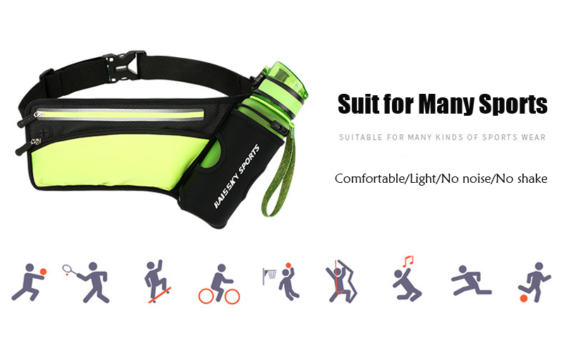 4ba1906e89af Running Waist Pack Outdoor Sports Hiking Racing Gym Fitness Lightweight  Hydration Belt Water Bottle Hip Marathon Waist Bag